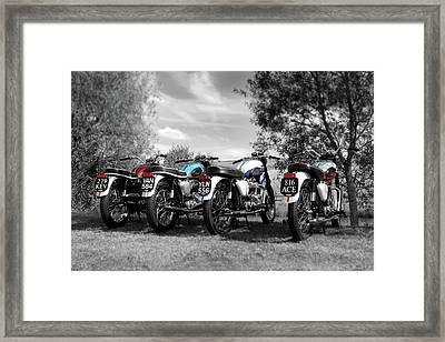 Four Bonnevilles Framed Print