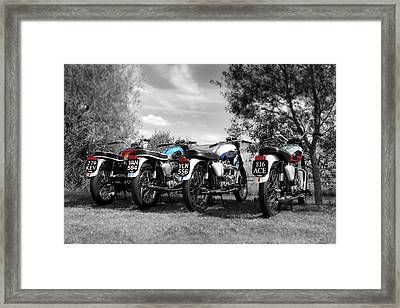 Four Bonnevilles Framed Print by Mark Rogan