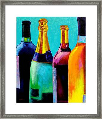 Four Bottles Framed Print