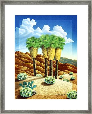 Four Bunch Palms Framed Print by Snake Jagger