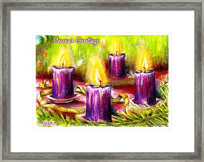 Four Candles Framed Print by James Sayer