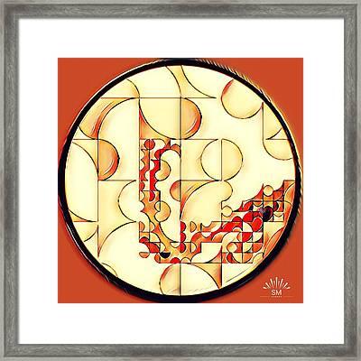 Four Circle Turn Framed Print