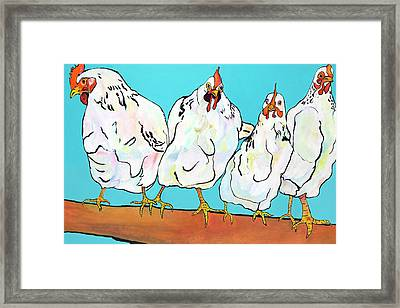 Four Clucks II Framed Print by Pat Saunders-White