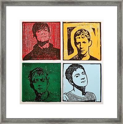 Four Compadres Framed Print