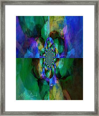 Four Corners In Cool Framed Print by Miriam Shaw