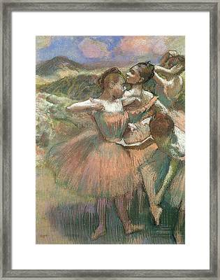 Four Dancers On Stage Framed Print