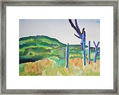 Four Dead Trees After Edward Hopper Framed Print