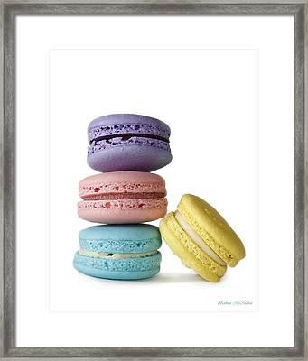 Four Delicate Macarons Framed Print