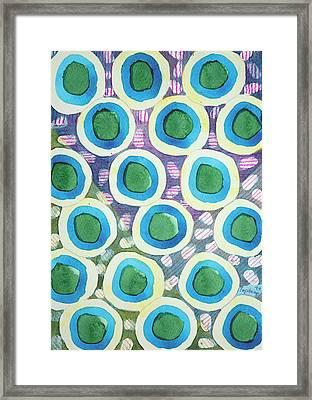Four Directions Dot Pattern Framed Print