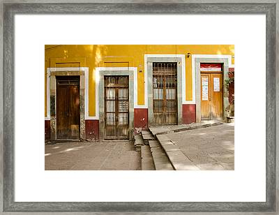 Four Doors. Guanajuato, Mexico. Framed Print by Rob Huntley
