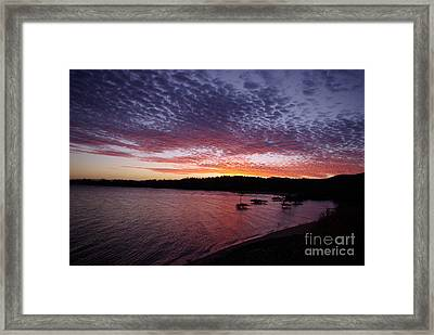 Framed Print featuring the photograph Four Elements Sunset Sequence 1 Coconuts Qld  by Kerryn Madsen - Pietsch