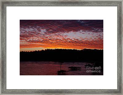 Framed Print featuring the photograph Four Elements Sunset Sequence 2 Coconuts Qld by Kerryn Madsen - Pietsch