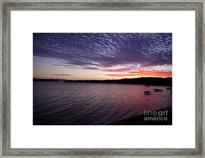 Framed Print featuring the photograph Four Elements Sunset Sequence 4 Coconuts Qld  by Kerryn Madsen- Pietsch