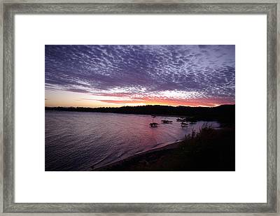 Framed Print featuring the photograph Four Elements Sunset Sequence 6 Coconuts Qld  by Kerryn Madsen-Pietsch