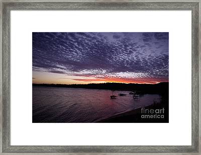 Framed Print featuring the photograph Four Elements Sunset Sequence 7 Coconuts Qld  by Kerryn Madsen - Pietsch