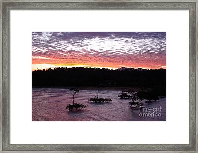 Framed Print featuring the photograph Four Elements Sunset Sequence 8 Coconuts Qld  by Kerryn Madsen - Pietsch