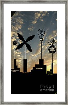 Four Energy Source Framed Print
