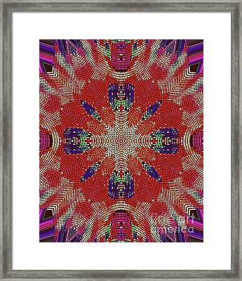 Four Feathers Framed Print by ARTography by Pamela Smale Williams