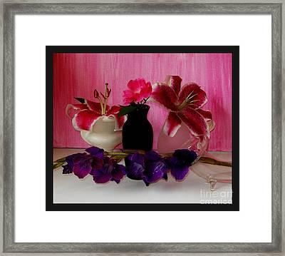 Four Flowers Framed Print by Marsha Heiken