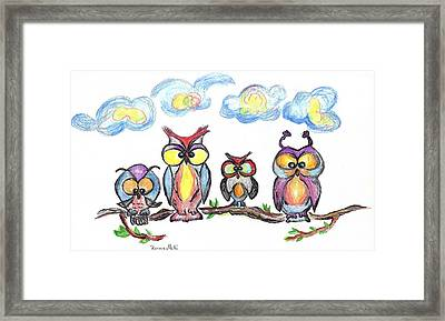 Four Friends  Framed Print