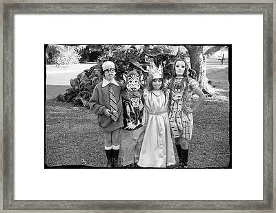 Four Girls In Halloween Costumes, 1971, Part One Framed Print