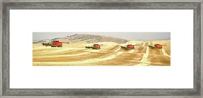 Four Headed In 7013 Framed Print