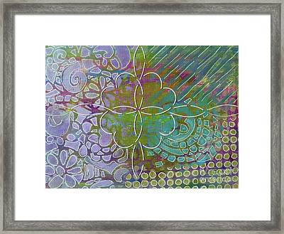 Four Hearts Intertwined Framed Print by Desiree Paquette