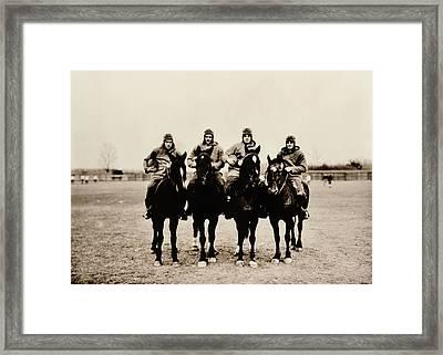 Four Horsemen Framed Print