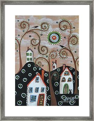 Four Houses 1 Framed Print by Karla Gerard