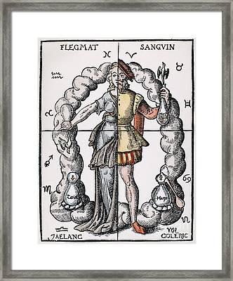 Four Humors Framed Print by Granger