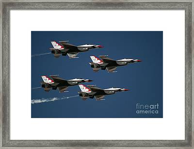 Four In Flight Framed Print