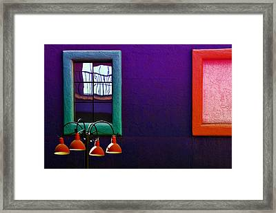 Four Lamps Framed Print by Maria Coulson