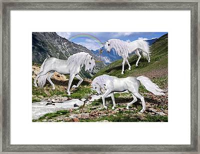 Four Legged Friends Framed Print