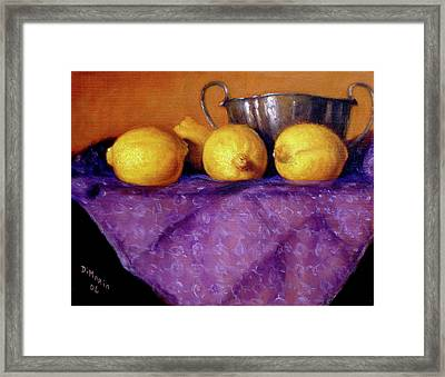 Four Lemons Framed Print by Donelli  DiMaria
