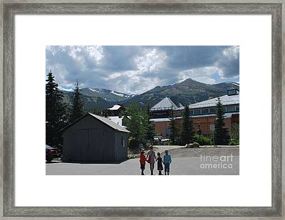 Four Little Children Safe In A Big Beautiful World Telluride Colorado Framed Print
