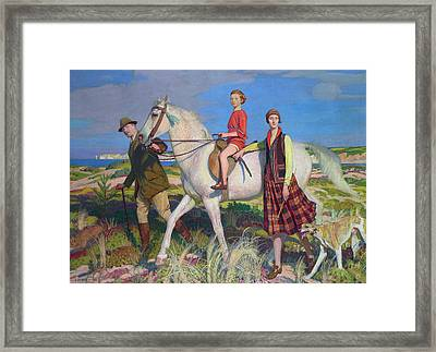 Four Loves I Found A Woman A Child A Horse And A Hound Framed Print by George Spencer Watson