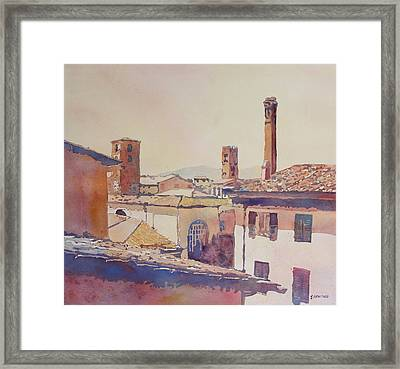 Four Luccan Towers Framed Print by Jenny Armitage
