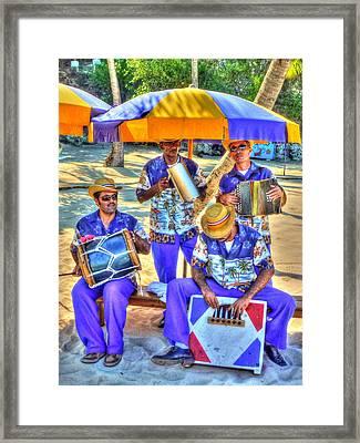 Four Man Band Framed Print
