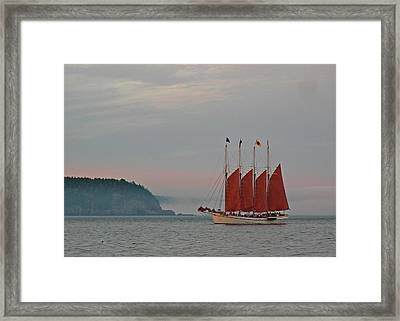 Four-masted Schooner The Margaret Todd Framed Print by Juergen Roth