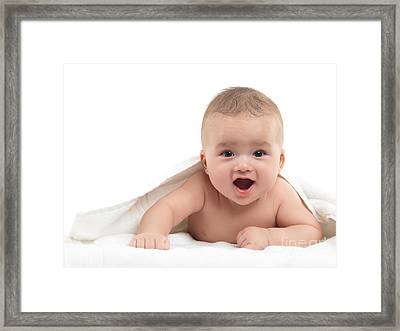 Four Month Old Baby Boy Framed Print by Oleksiy Maksymenko