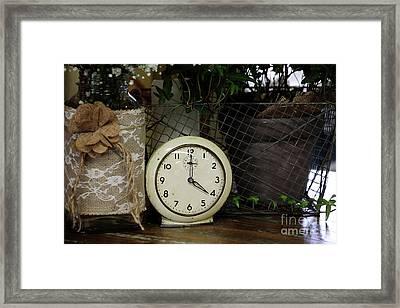Four O'clock Framed Print by Stephanie Frey