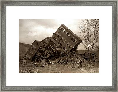Four Old Friends...swoyersville Pa Framed Print by Arthur Miller