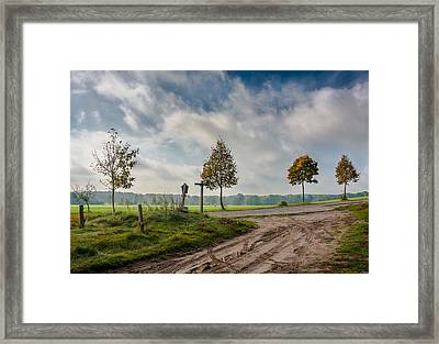 Four On The Crossroads Framed Print