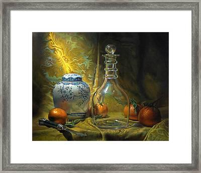 Four Oranges Framed Print by Jeffrey Hayes