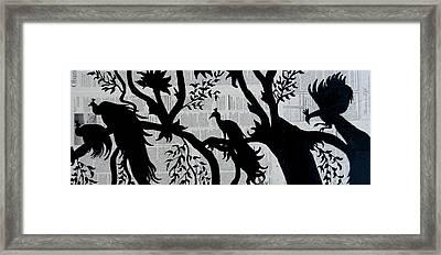 Four  Peacocks Framed Print by Kruti Shah