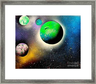 Four Planets 02 E Framed Print by Greg Moores