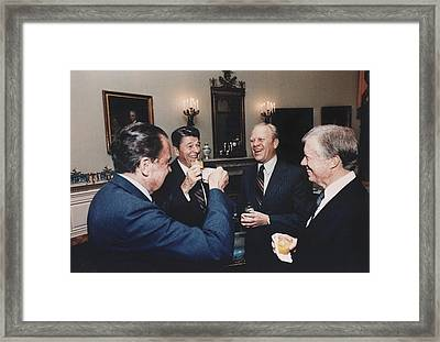 Four Presidents Nixon Reagan Ford Framed Print