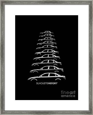 Four Rings Sedan Silhouettehistory Framed Print