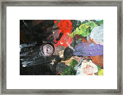 Framed Print featuring the painting Four Roses Abstract by Melinda Saminski