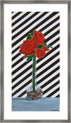 Four Roses Framed Print by Marcia Paige